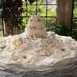 The wedding cake was not only beautiful, but was the best cake we ever tasted.