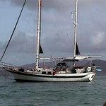 Treazzure at anchor