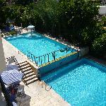 The pools at Mariella