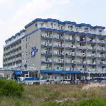 The Adventurer Inn from the Beach