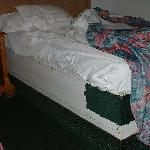 bed and its wooden frame