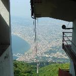 view from cablecar on mount faito [a must]