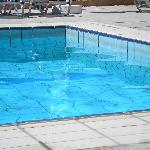 dirt line around the edge of pool