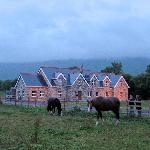 the Yeats Lodge B & B at dusk