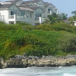 View of Villas from the Beach