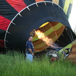 Inflating Balloon Before Takeoff