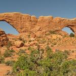 Double window arches