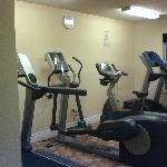 Workout center, could use some free weights!