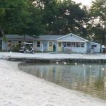 Park office and beach