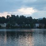 Another View from Restaurant Deck: Mirror Lake at Sunset