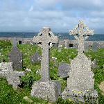 all the headstones face the sea