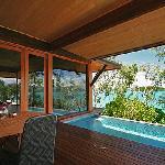 Windward pavillion's private plunge pool