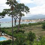 Pool and view of St Florent
