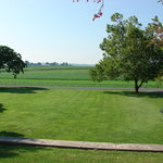 View of front landscape from farm porch