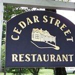 Cedar Street Sign