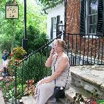 Sitting at the Front Door of Middleburg Country Inn