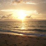 Beautiful sunrise on the beach!