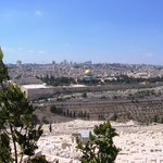Panorama of Jerusalem viewed from the Mount of Olives. Linda & Arta, Gjakovë