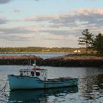 View from Sarah's Dockside Gotts Cove Five Islands Georgetown Maine