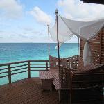 Water villa deck bed