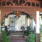 Enter through the East gate to the main house and breakfast!