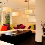 Lounge im Erdgeschoss