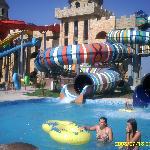 aqua park one of the childrens slides