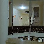 Part of the hotel staircase