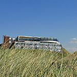 Hotel Het Hoge Duin as seen from the beach below
