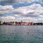 Porec viewed from across the water on St Nicholas island
