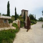 the romantic entrance