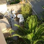 Balcone sul giardino interno