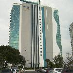 hotel from parking lot