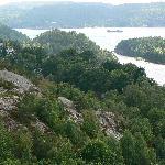 View from the top of Fredriksten Castle, Halden, Norway