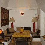 A sitting room in the Riad main floor