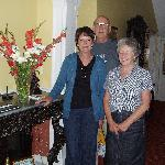 My wife, myself and Mary our hostess