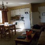 Kitchen/livingroom in 1 BD unit