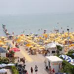 View of the busy Jesolo beachfront