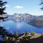 View of Crater Lake from northern entrance