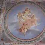 Frescoes up on our ceiling
