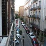 Vue sur la rue Cervantes du balcon de la chambre