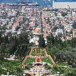 View from the top of Bahai Gardens