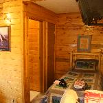 Interior of our cabin