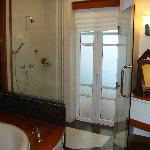 Bathroom of beachfront villa -only access to outdoor jacuzzi