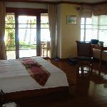 Bedroom- Beachfront villa with plunge pool