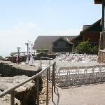 wedding held on lodge balcony