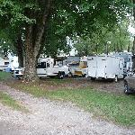 The adjoining campground--wall to wall