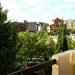 balcón con vista al bosque