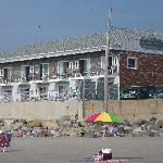 View of the Motor Inn from Beach