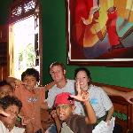 Part of our group with street kids